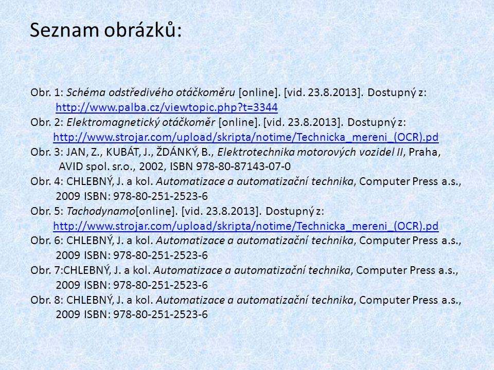 Seznam obrázků: Obr. 1: Schéma odstředivého otáčkoměru [online]. [vid. 23.8.2013]. Dostupný z: http://www.palba.cz/viewtopic.php t=3344.